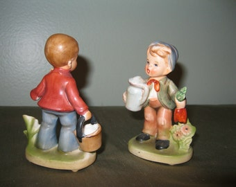 Vintage Napcoware Porcelain Children Boys Figurines