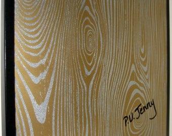 Gold Wood ..Magnetic Dry Erase Memo Board / housewarming gift / office wall decor / organization / desk accessories / coworker / dorm decor