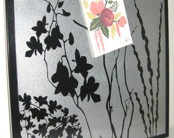 Wildflowers.. Magnetic Memo Board / Housewarming Gift / Office Decor / Organization / Memo Board / Message Board / Desk / Wall Hanging