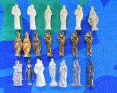 Instant Collection of Vintage Religious Miniatures Metal and Plastic
