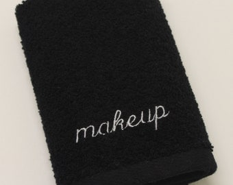 Makeup Embroidered Terry Wash Towel
