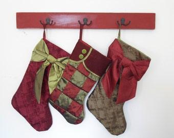 stocking hooks coat rack double hooks jewelry organizer Christmas decor pet leash scarves towel rack living room wall hooks BeachHouseDreams