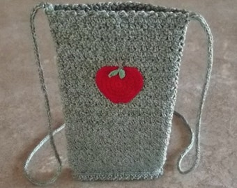 Bonnie's OOAK Crochet Cotton Thread Item  iphone  5 Necklace Case W/Hand Knit- i-cord  Shop in the USA  @cyicrochet
