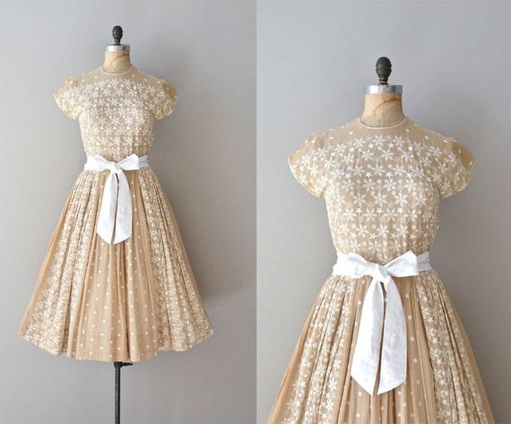 vintage 1950s dress / 50s dress / Schneeflocke dress