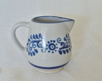 SALE  Blue and Gray Stoneware Pitcher