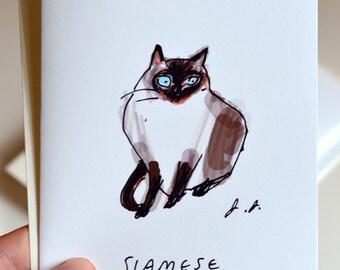 Siamese Cat Card