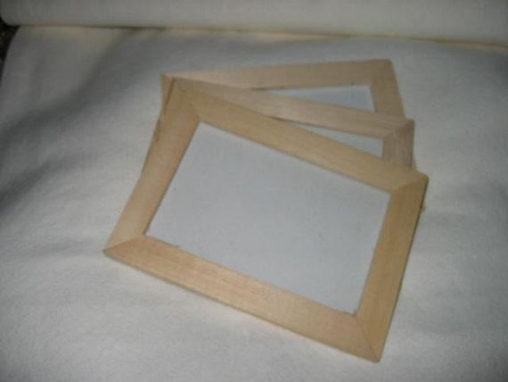 custom for meli only 24 unfinished wood and glass frame