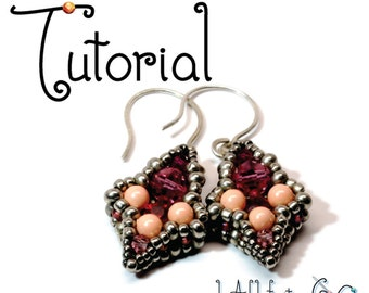 TUTORIAL -- Iris Drop Beaded Earrings