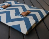 "15 MacBook Case / 15 MacBook Pro Case / 13"" MacBook Pro Cover / MacBook Cover / 11 MacBook Sleeve - Chevron Blue Natural"