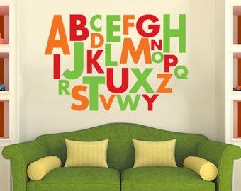 Large Alphabet Wall Decal Vinyl Alphabet  DB148