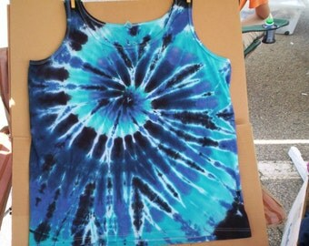 Water Spiral Tie Dye Tank  Ladies 2X
