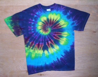 Childrens-Cool Spiral Tie Dye Size Youth Medium