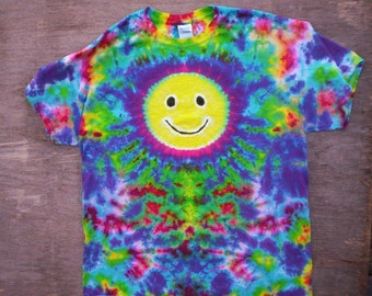 Childrens-Youth Medium Smiley Face Tie Dye