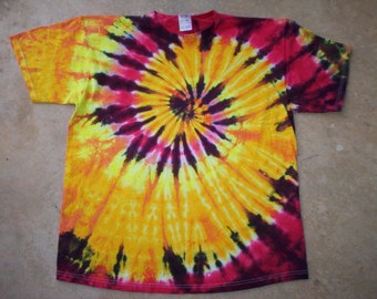 4X Fire Spiral Tie Dye