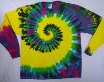 Cosmic Bang Tie Dye Long Sleeve Size XL