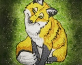 Golden Idol Yellow Red Fox Vulpes vulpes Iron on Patch