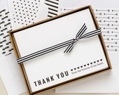 Letterpress Thank You Cards with Hearts (Set of 12)