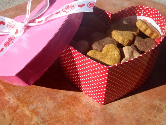 Romantic gifts for vegans: heart-shaped doggie treats