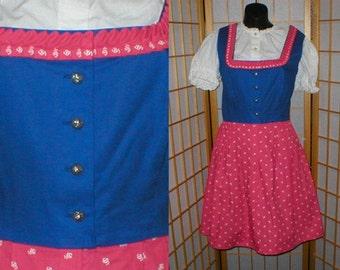 Vintage, German Dirndl, dress, womens size medium