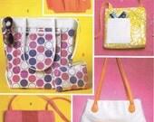 Tote Bag Sewing Pattern - Butterick 5475 - Shoulder Bag Pattern - Wrist Wallet Pattern - Uncut, Factory Folded