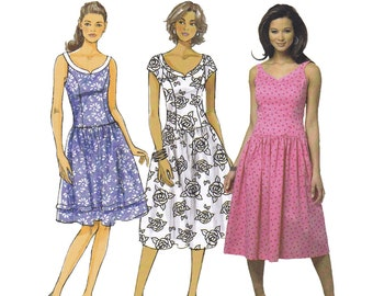Fitted Dress Pattern - Butterick 5641 - Dress Sewing Pattern - Summer Dress Pattern - Uncut, Factory Folds