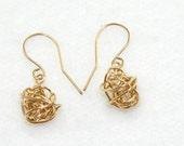 Eco Friendly 14kt gold fill Storm Earrings Gold Fill Knot earrings