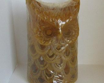 Vintage 1970s Owl Candle in shrinkwrap