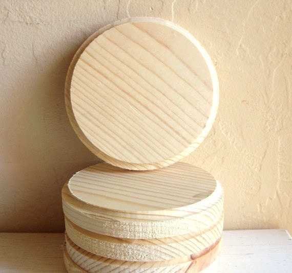 Round Wood Plaques Unfinished Wooden Circles Ready To Paint Or