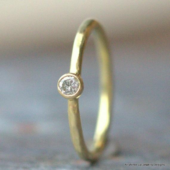 18k Diamond Engagement Ring 18k Gold Diamond Engagement