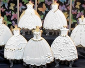 Wedding Dress Cookies - #1 ---6.00 each