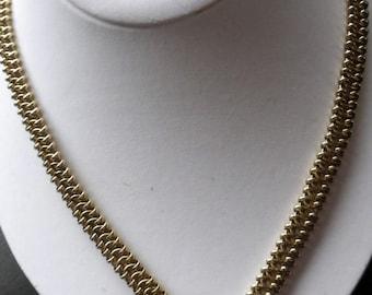 Heavy Goldtone Link Necklace - Trifari