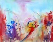 Wildflowers in Watercolor Print
