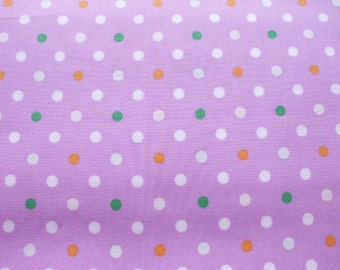 SALE - Cute Polka Dots on Purple - Fat Quarter (ko0805)