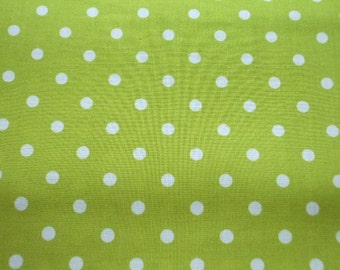 "Scrap - Pastel Color Polka Dots on Leaf Green - OneYard 112cm/44""W x 94cm/37""L(ko0805)"
