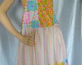 Hippie Patchwork Top  mini Cute dress SALE