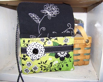 Smart Phone or Passport case with neck strap or small sling purse pdf pattern