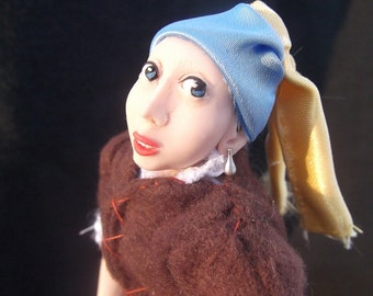The Girl with the Pearl Earring- OOAK Original Artist Doll