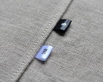 Size Labels 400 pcs Color Satin Ribbon fabric labels Clothing Labels Delivered CUT