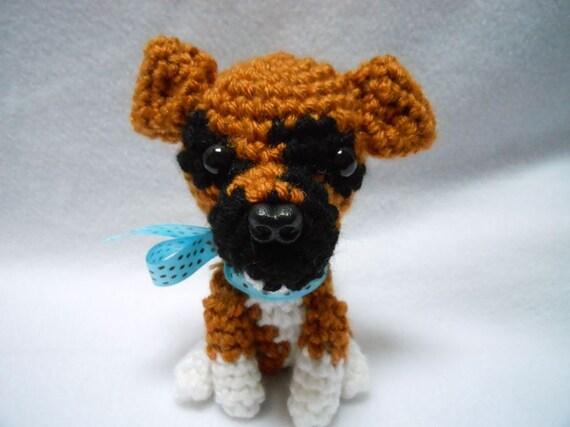 Amigurumi Boxer Dog : Boxer Crochet Dog Amigurumi Canine Stuffed Animal by ...