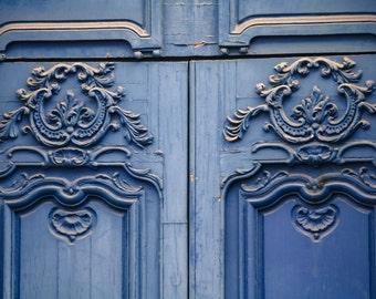 Paris Photography, Romantic Blue Doors in the Marais, Paris,French Home Decor, Soft Blue, Easter, Spring in Paris