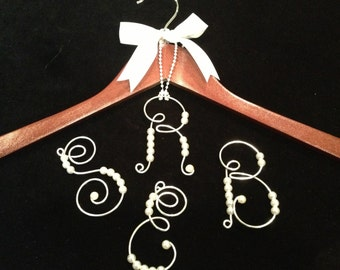 6 Bridesmaid Gift Personalized hanger  initials Ornament Special Occasion Dress Hanger
