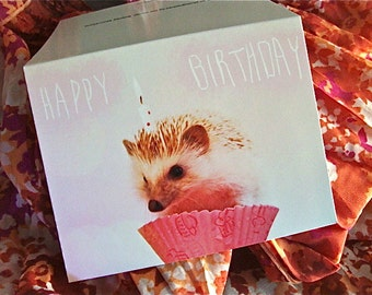 Happy Birthday Hedgehog Card - Charitable Item