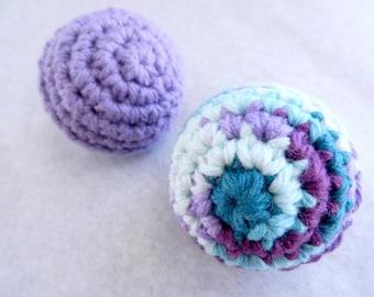 Cat Toy - Rattle Balls - No Catnip - Set of 2
