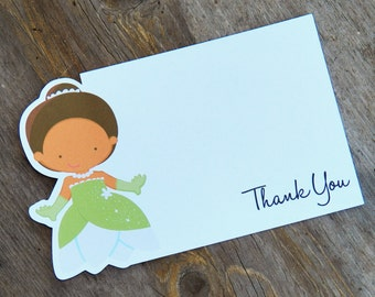Princess Party - Set of 8 Tiana - Princess and the Frog Thank You Cards by The Birthday House