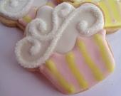 IT'S YOUR BIRTHDAY Cupcake Sugar Cookie Party Favor, 1 Dozen