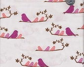 SALE...3 Yards Valori Wells Nest : Mamma Birds Violet Pink Purple Bohemian India Cotton Quilt Fabric by Free Spirit