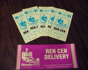 Detroit Gran Prix access passes - 1991