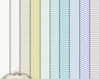 Chevron Paper Pack - Scrapbooking Papers - Vol 1 - Cu - Commercial Use Papers  - 12 x 12 Inch - INSTANT DOWNLOAD -2.50