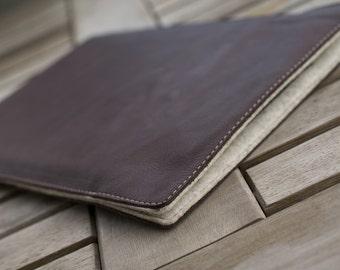 iPad PRO Leather Sleeve - SLIDER (Organic Leather) (Organic Leather)