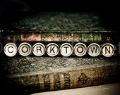 CORKTOWN Vintage Typewriter Keys Fine Art Photographic Print on Metallic Paper